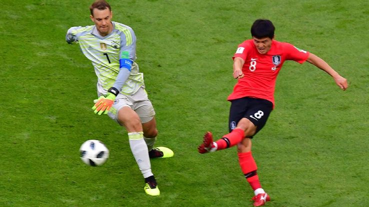 Neuer's dreadful attempt to play upfield as Germany tried to salvage their World Cup campaign will go down in history.
