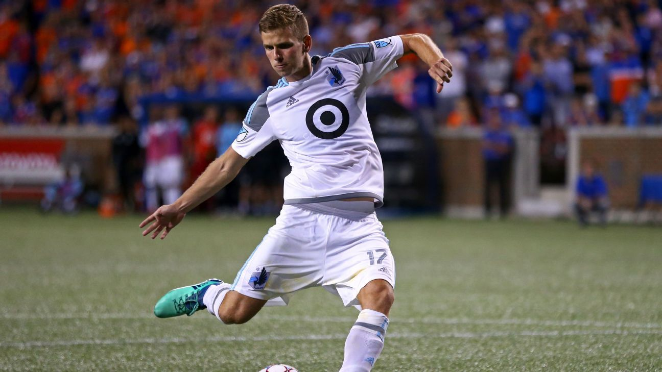 Collin Martin is in his sixth season in MLS and second with Minnesota United.