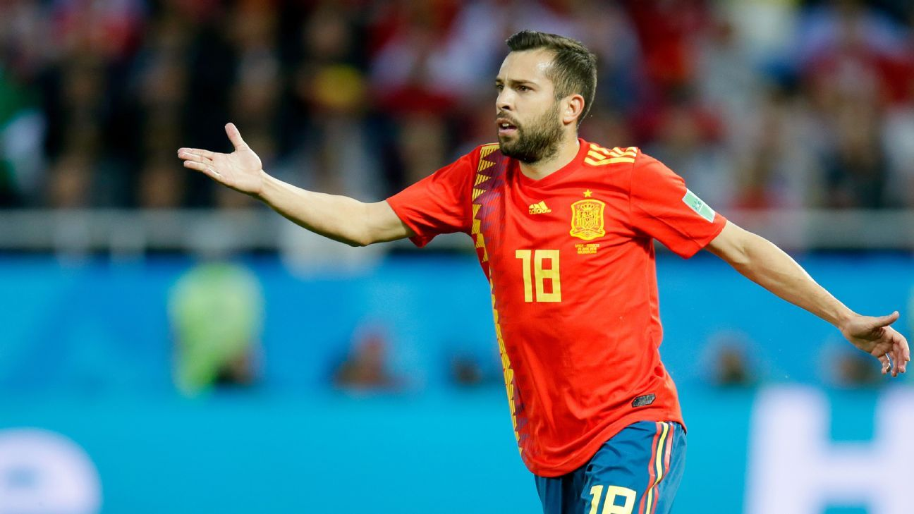 Jordi Alba has one of the few full-backs who has shined at the 2018 World Cup.