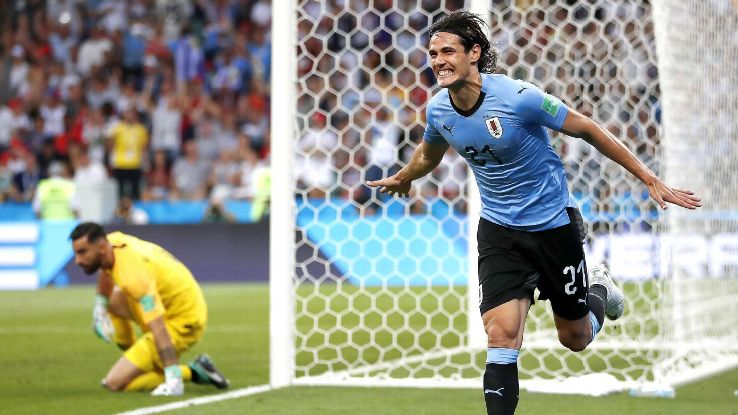 Edinson Cavani came up big for Uruguay on the big stage with two brilliant goals.