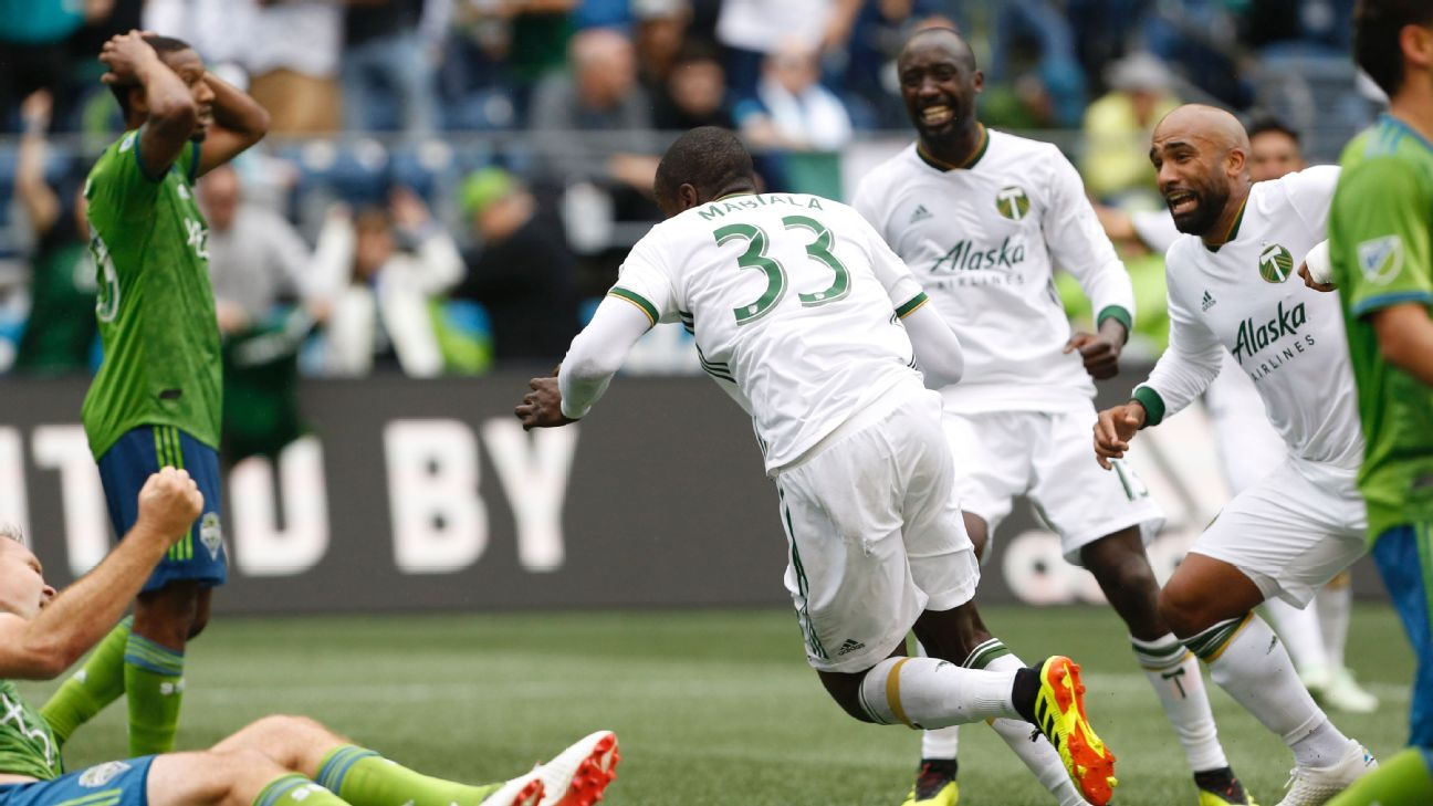 Larrys Mabiala scores twice as Timbers edge Sounders in five-goal thriller