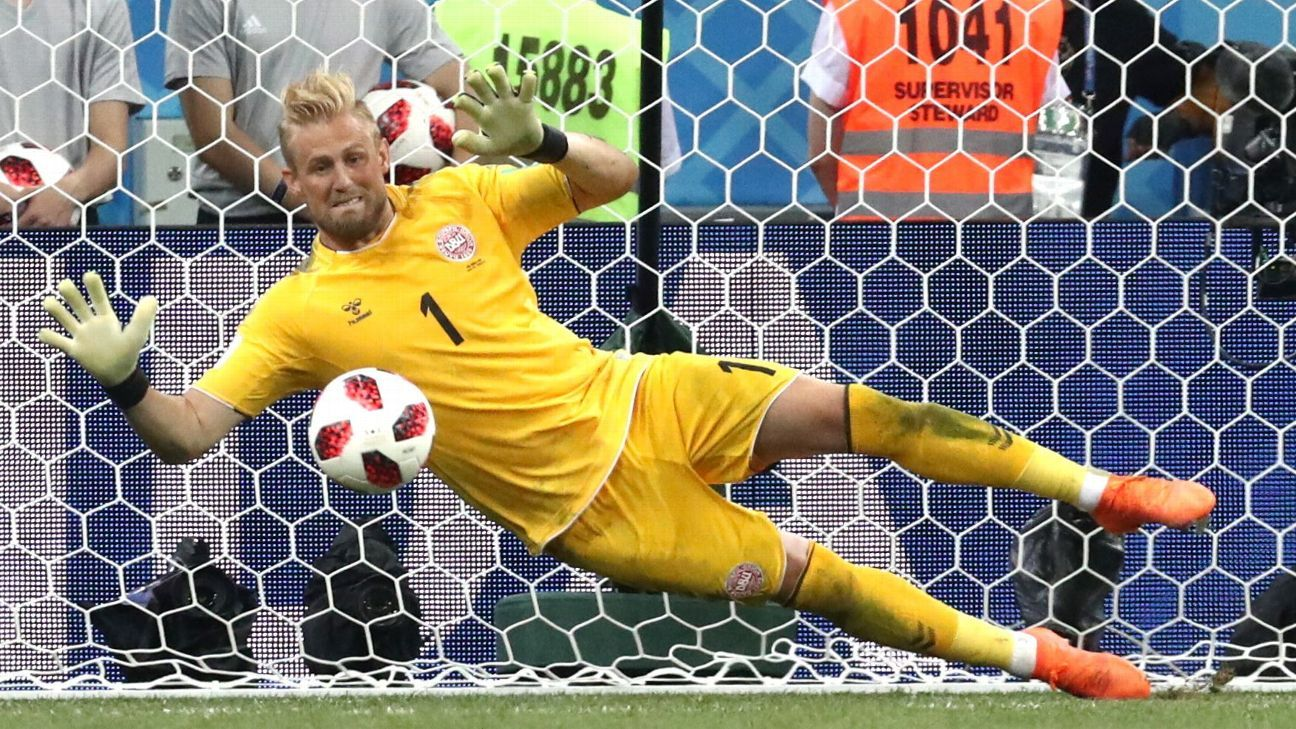 Schmeichel made several brilliant saves but couldn't pull Denmark past Croatia in the last-16.