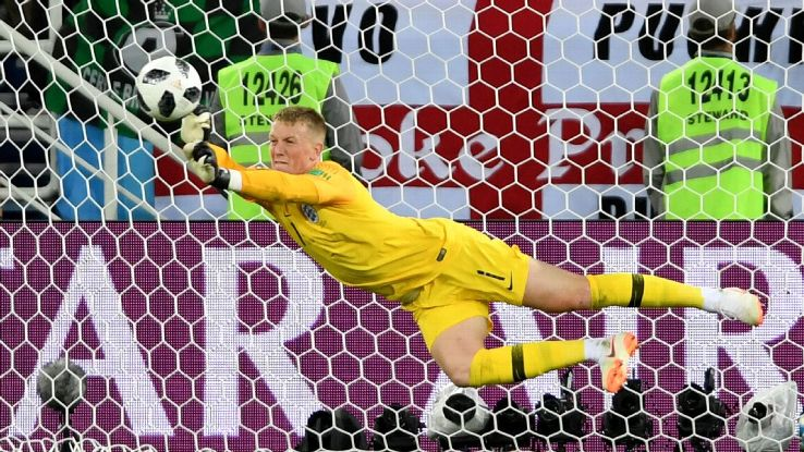 England goalkeeper Jordan Pickford has been studying penalties ahead of their last-16 clash with Colombia.