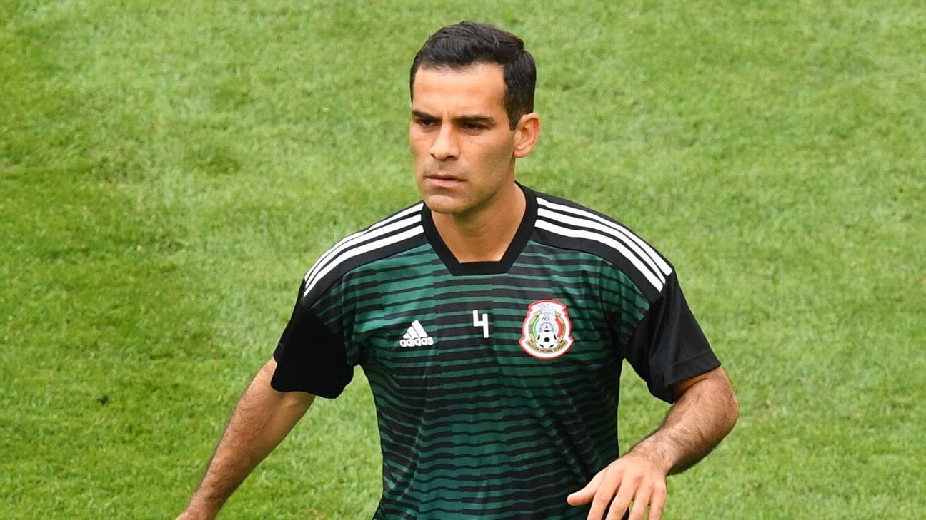 Mexico's midfielder Rafael Marquez warms up