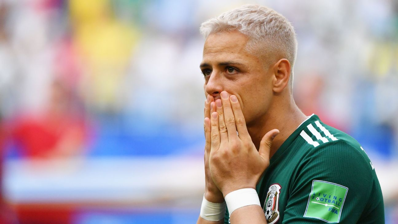 Javier Hernandez was nowhere to be seen in Mexico's loss to Brazil.