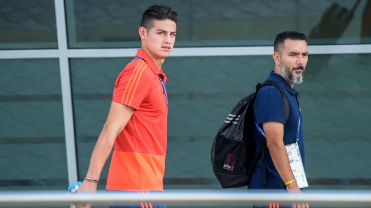 James Rodriguez is facing a race to be fit to play England.