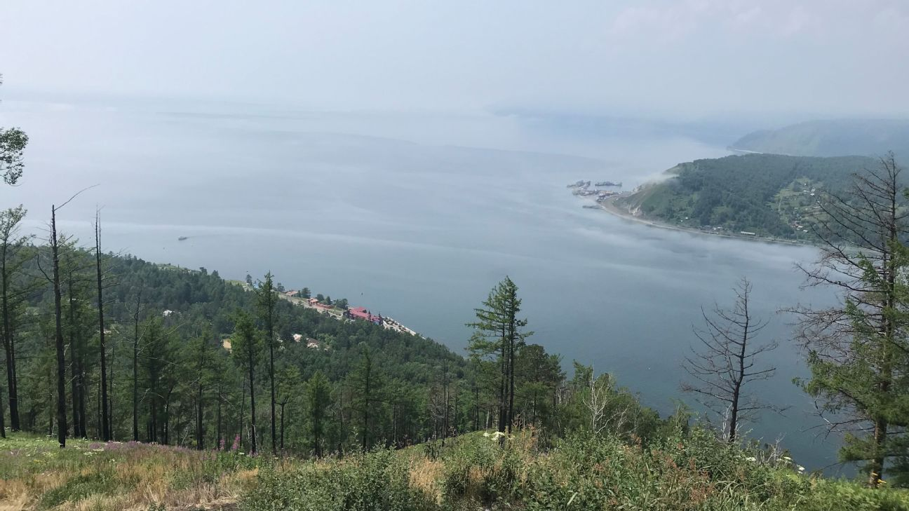 Tourists can walk to the top of the Chersky viewpoint, about a kilometre uphill, for stunning views.