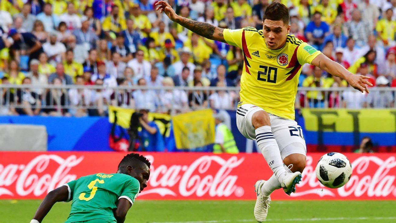Quintero was superb for Colombia in the group stages and will need to be the playmaker vs. England in the last-16.