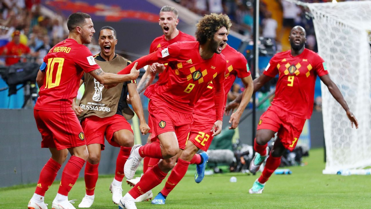 Nacer Chadli strikes late as Belgium overcome Japan in round of 16