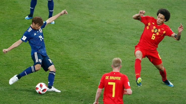 Inui scored a superb goal for Japan but in the end, they couldn't hold on against Belgium's late fightback.