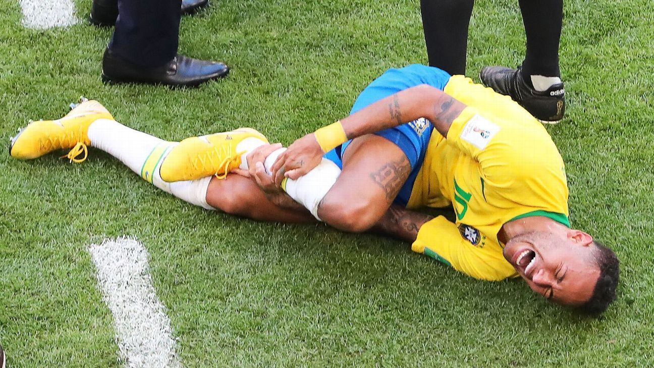 Neymar was often criticised for his theatrics at the World Cup.