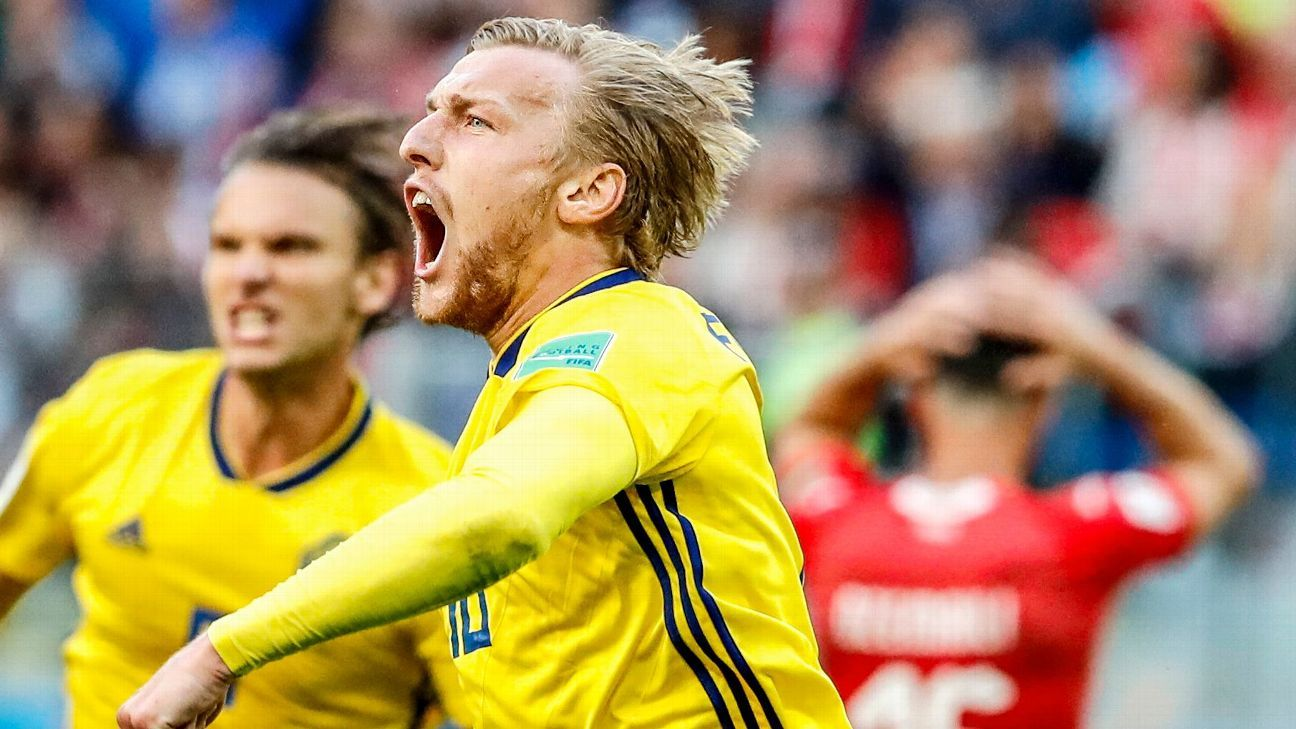 Emil Forsberg scored the only goal of the game as Sweden beat Switzerland in the Round of 16