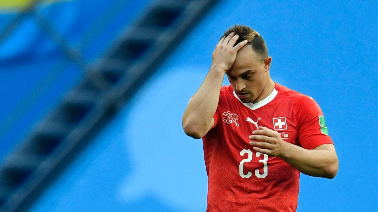 Swiss star Xherdan Shaqiri was far too quiet in Switzerland's defeat to Sweden.