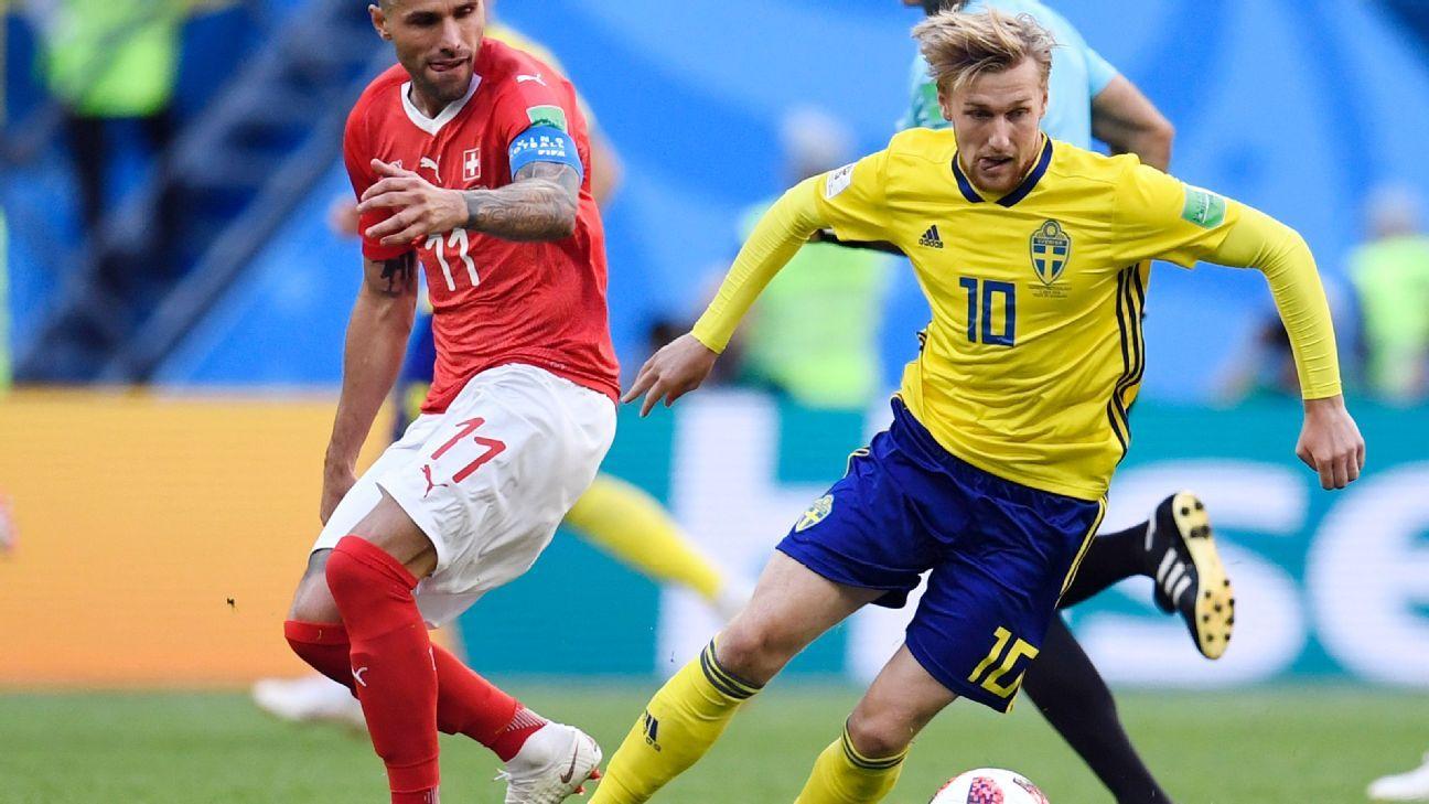 Emil Forsberg 9/10 as Sweden beat Switzerland, book quarterfinal spot