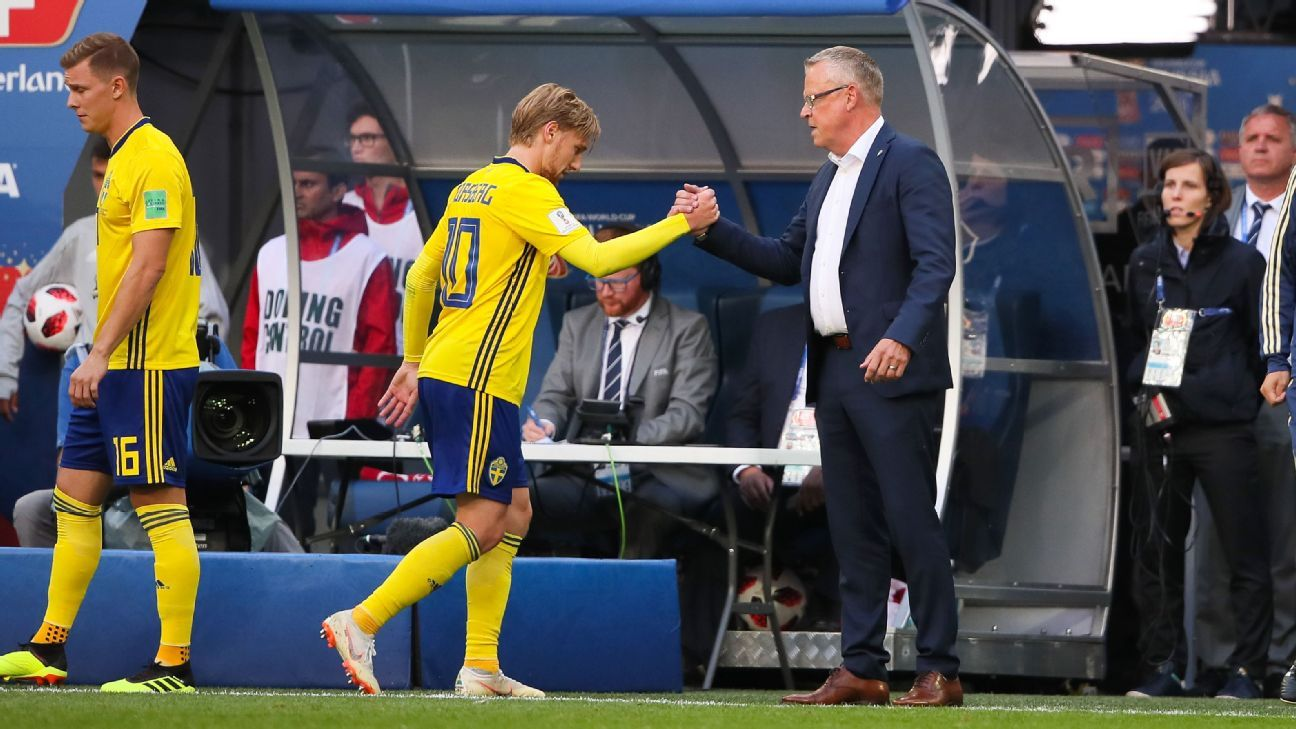 Sweden not satisfied by reaching World Cup quarterfinals - coach Janne Andersson
