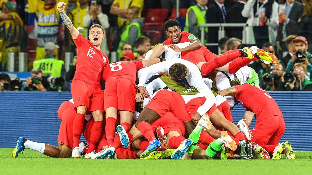 England are in the World Cup quarterfinals for the first time since 2006.