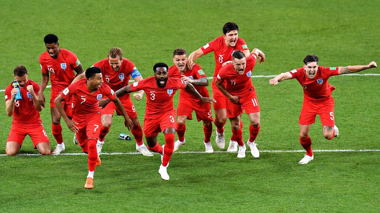 England secured their quarterfinal berth with a penalty shootout win over Colombia.