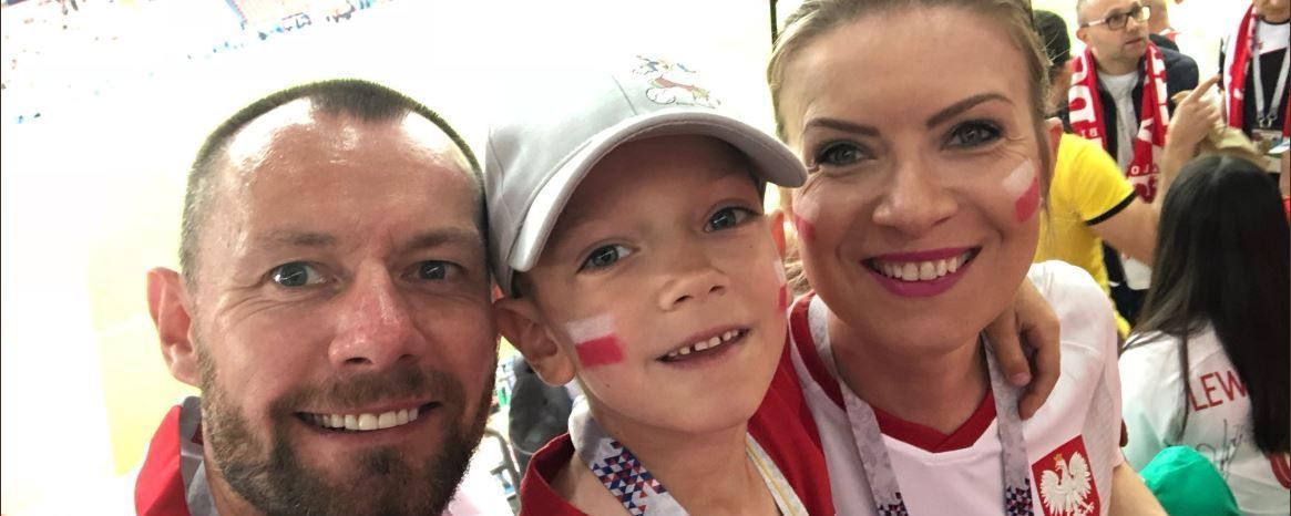Aleks Meiklejohn, 6, was at the World Cup supporting Poland with his parents