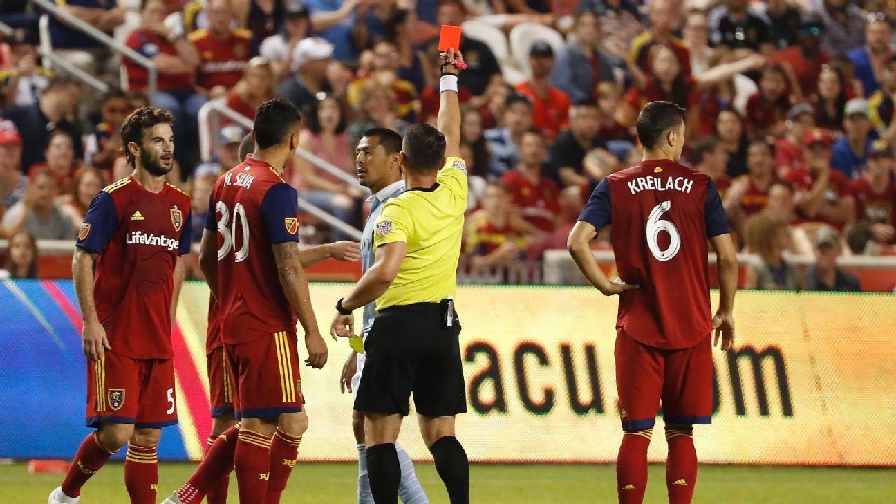 Real Salt Lake triumphs as Sporting Kansas City end match with nine men