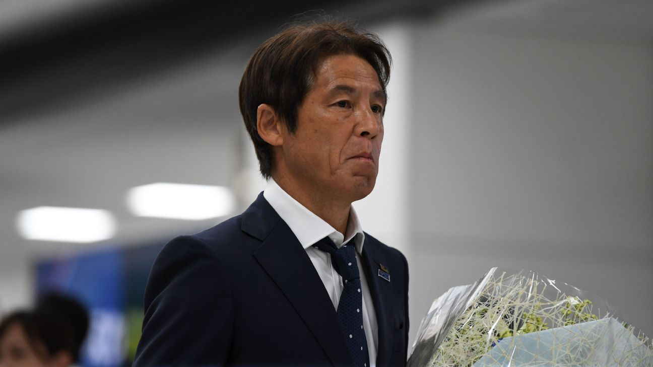 Akira Nishino upon his return to Japan following the World Cup.