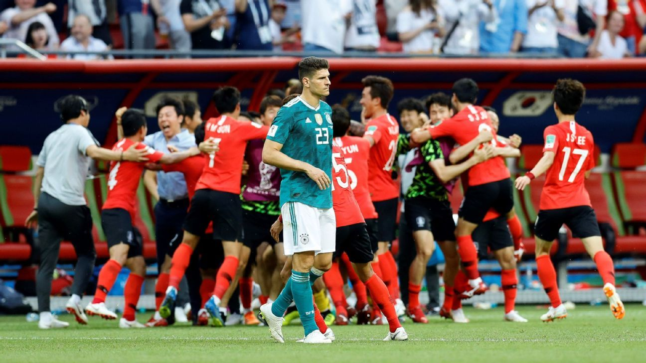 South Korea's shock win vs. Germany was one of many surprise results at Russia 2018.
