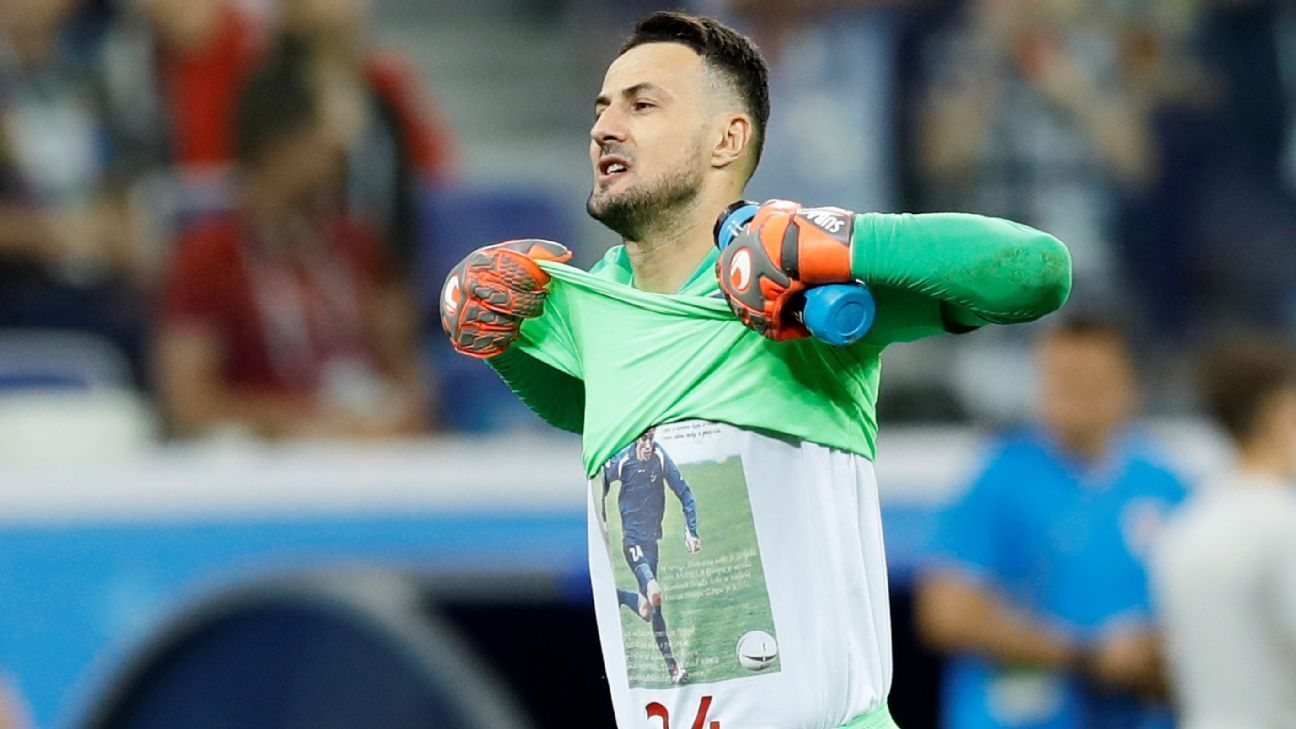 FIFA warns Croatia's Danijel Subasic for tribute to dead friend after World Cup win over Denmark