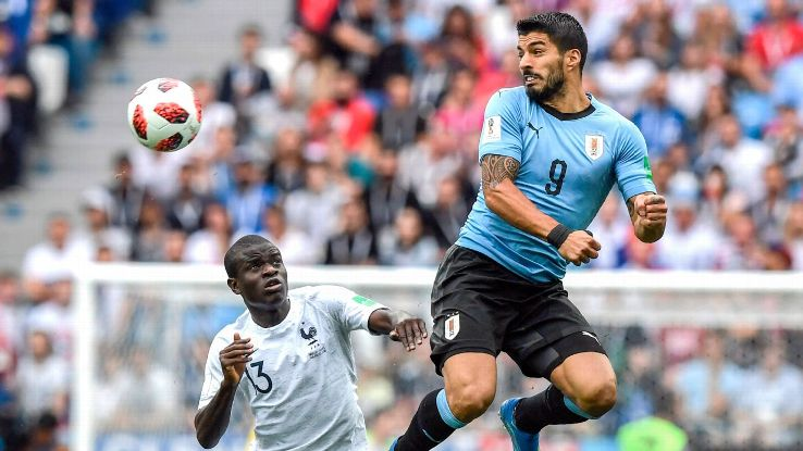 Without Cavani alongside him, Luis Suarez was unable to make the kind of impact Uruguay needed vs. France.