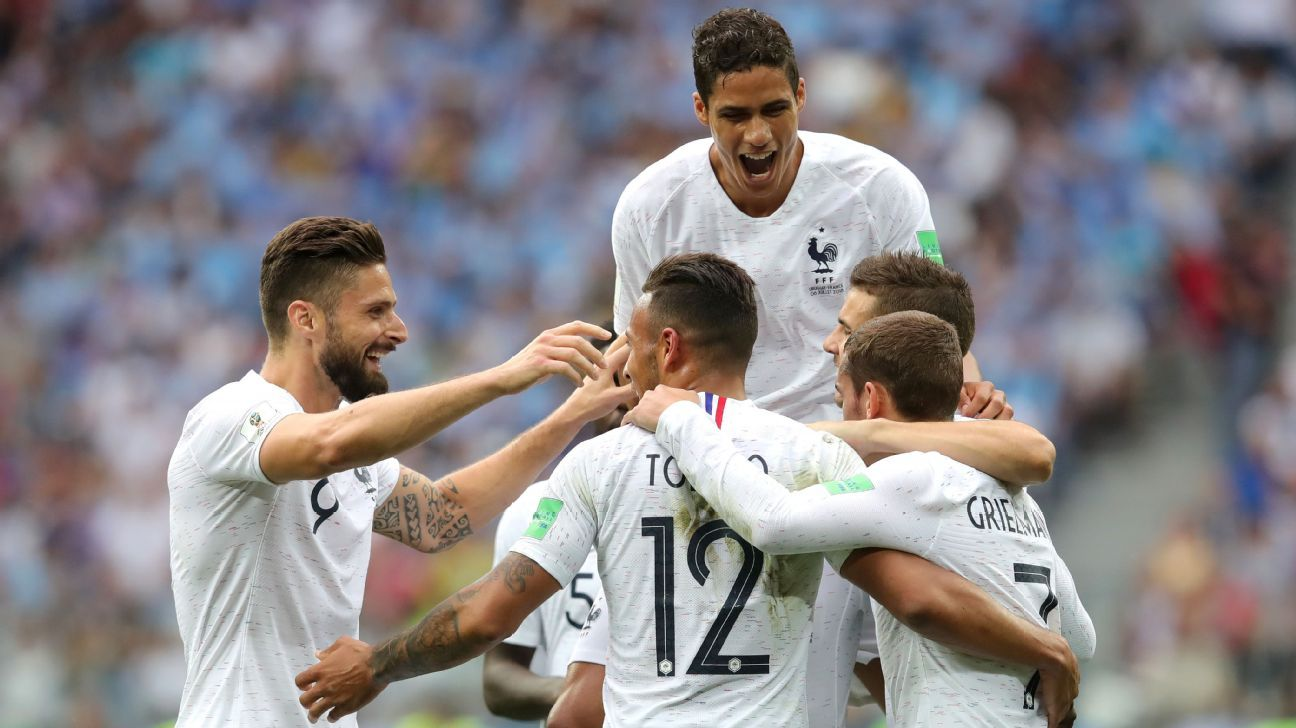France beat Uruguay to reach World Cup semis as Varane, Griezmann strike