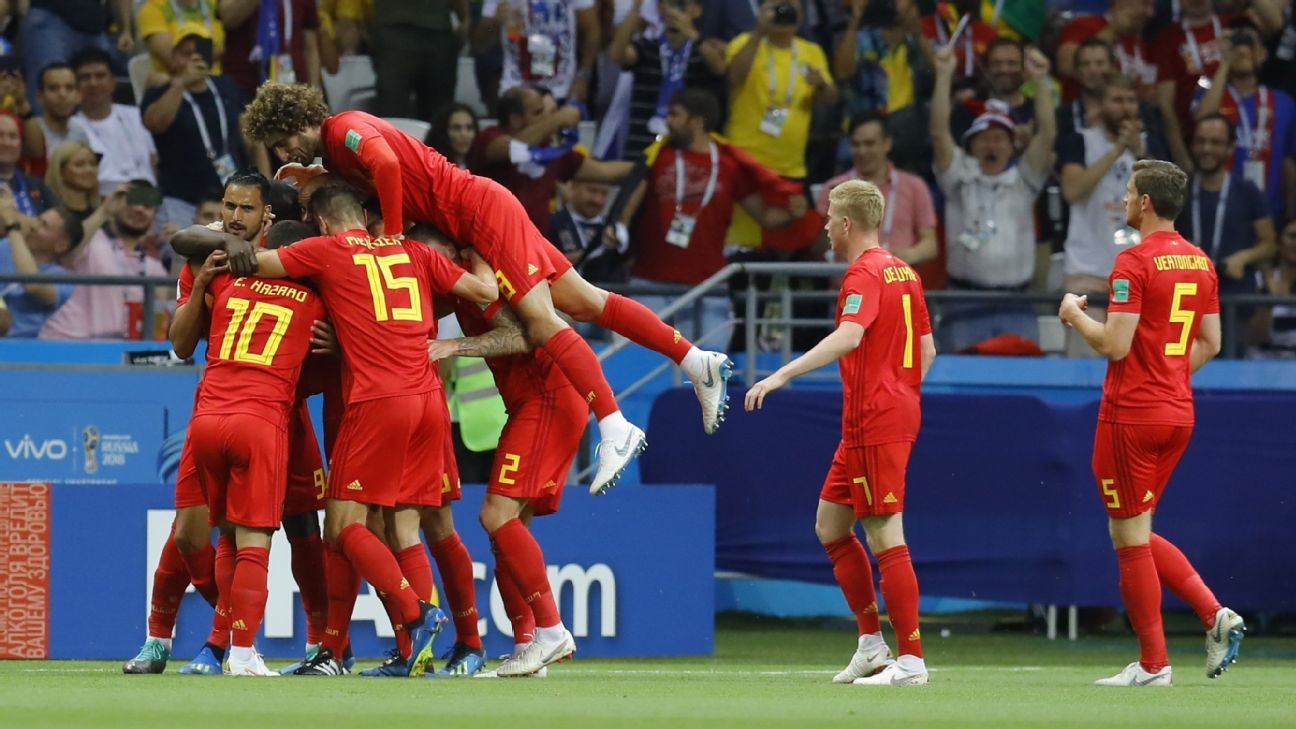 Two goals in 18 first-half minutes set Belgium on the road to victory vs. Brazil.