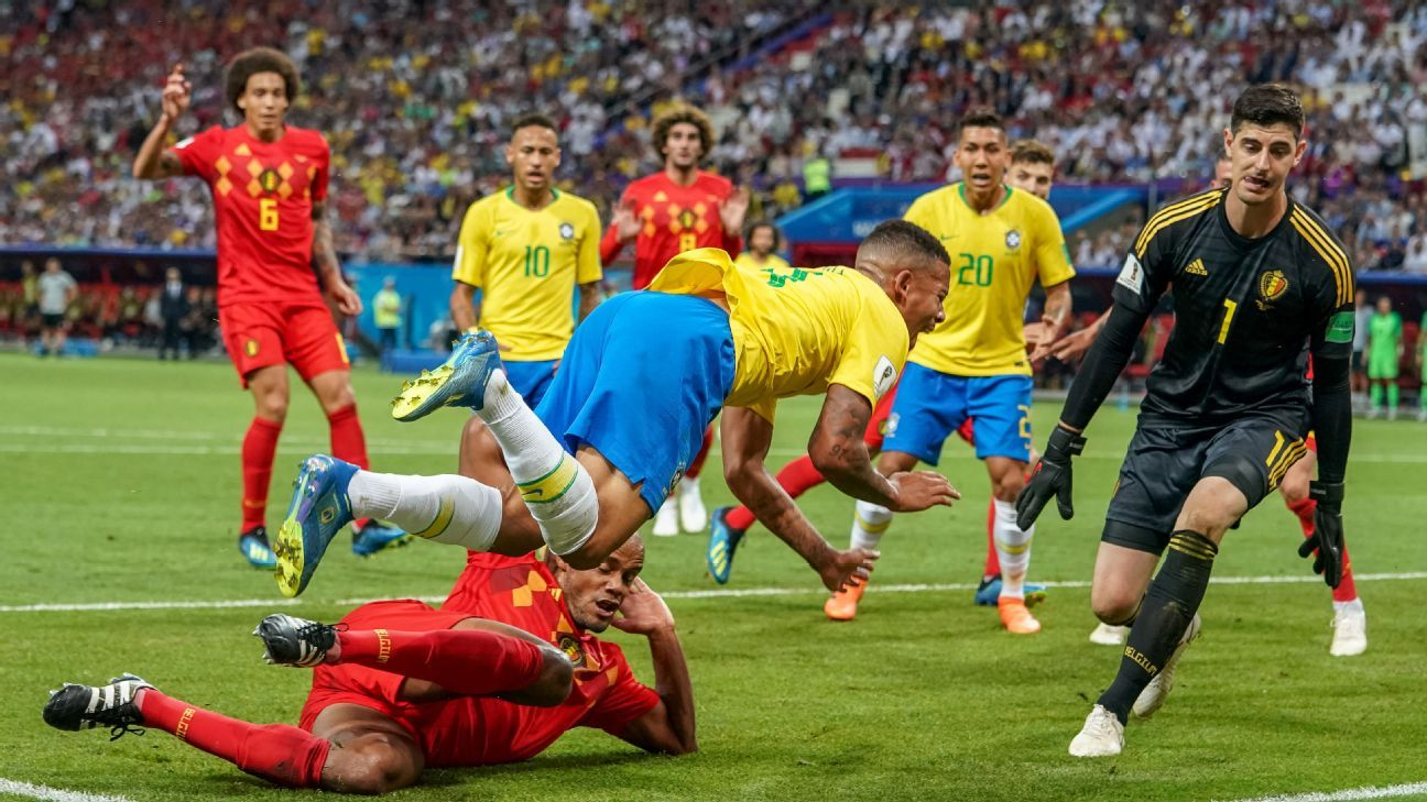 Brazil wanted a penalty for Vincent Kompany's challenge on Gabriel Jesus but their appeals fell on deaf ears.