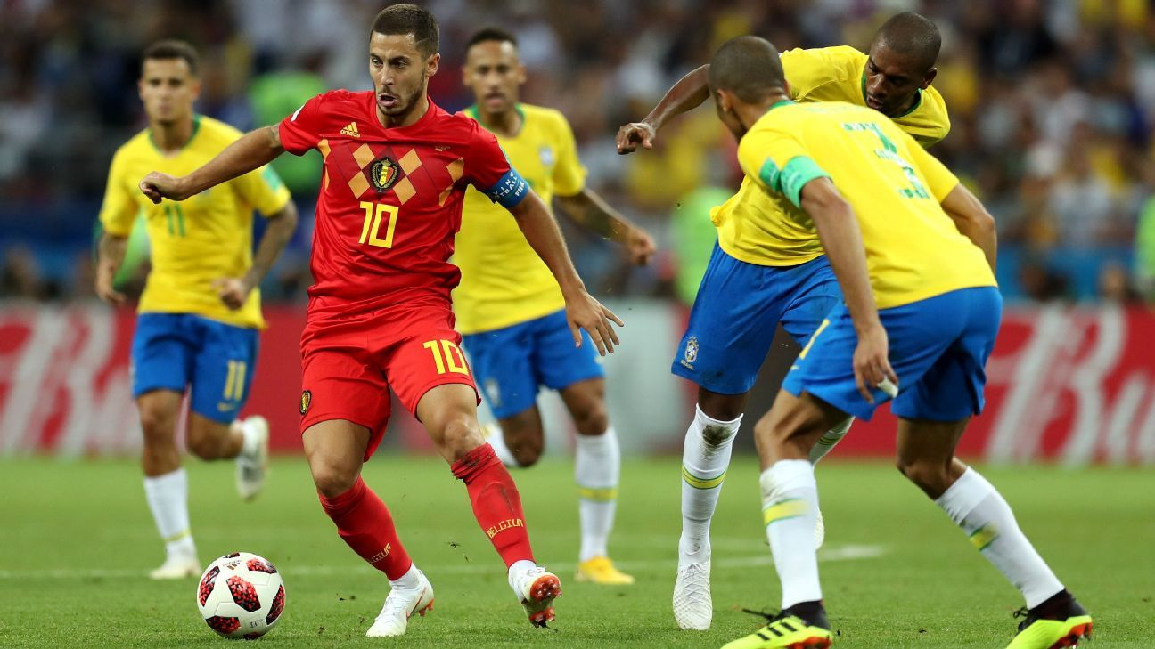 Hazard had no goals and no assists against Brazil but he led Belgium from the front.