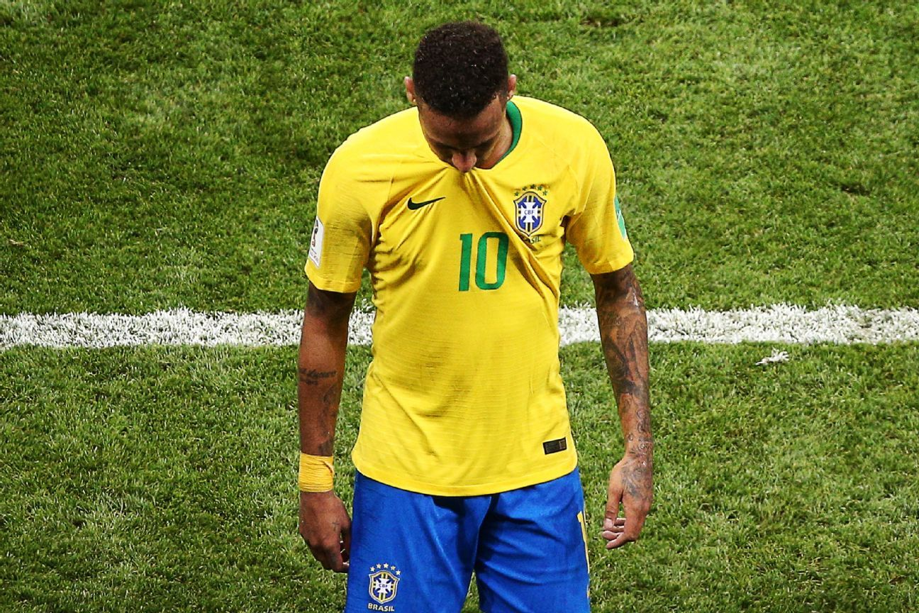 Neymar's bad luck with World Cup quarters continued with defeat by Belgium in Kazan.