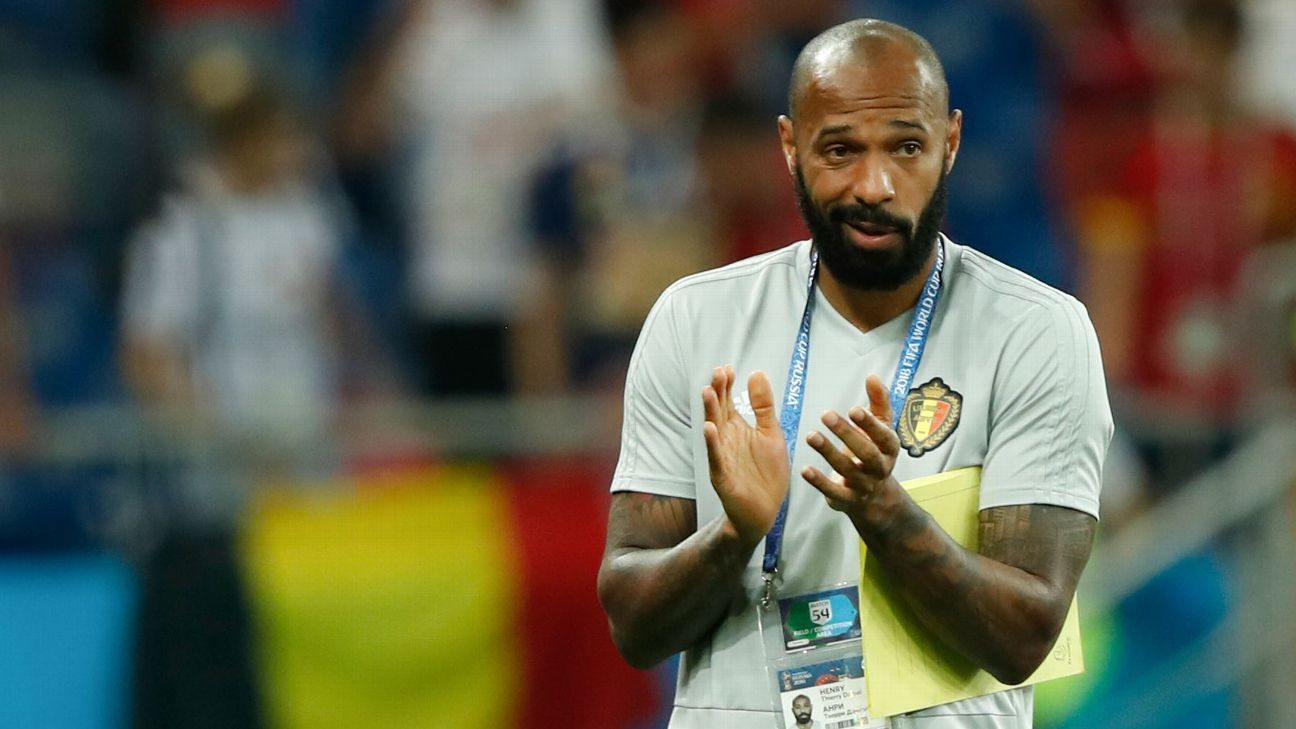 Belgium coach Thierry Henry won the World Cup and European Championship with France.