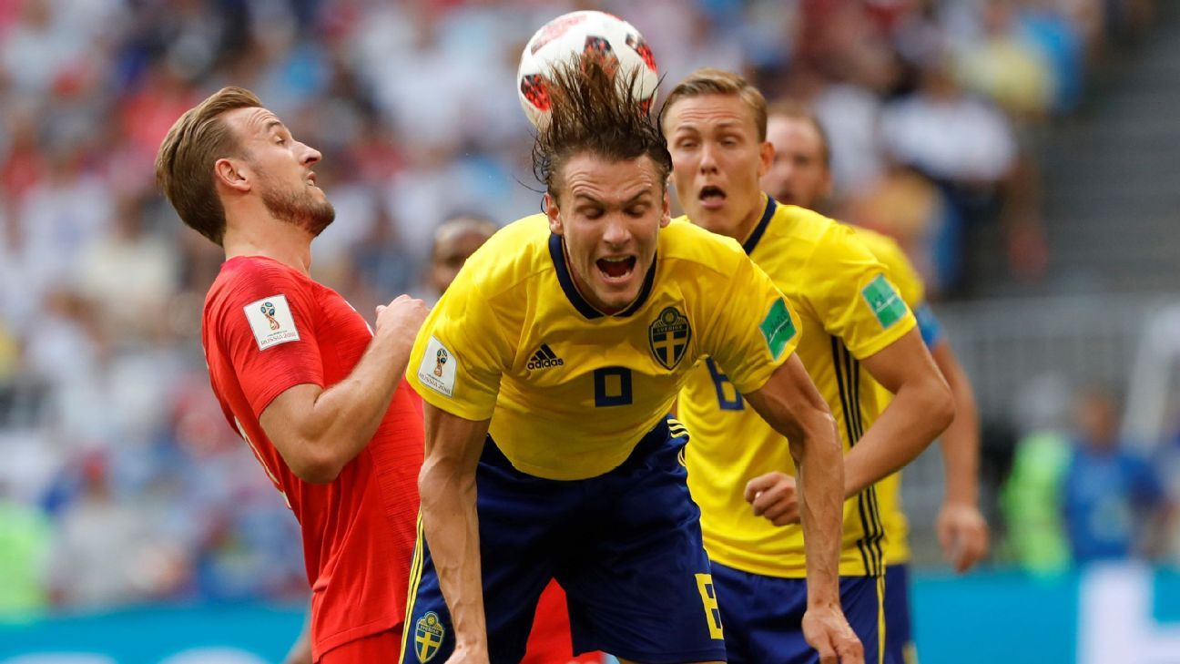 Ekdal couldn't get a foothold for Sweden in midfield as England ground out a 2-0 win in their World Cup quarterfinal.
