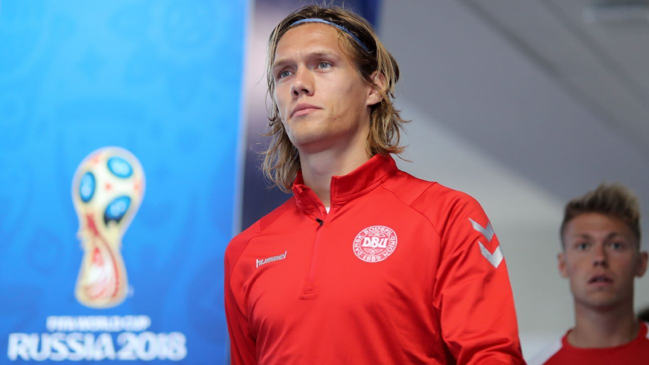 Jannik Vestergaard was with Denmark at the 2018 World Cup.