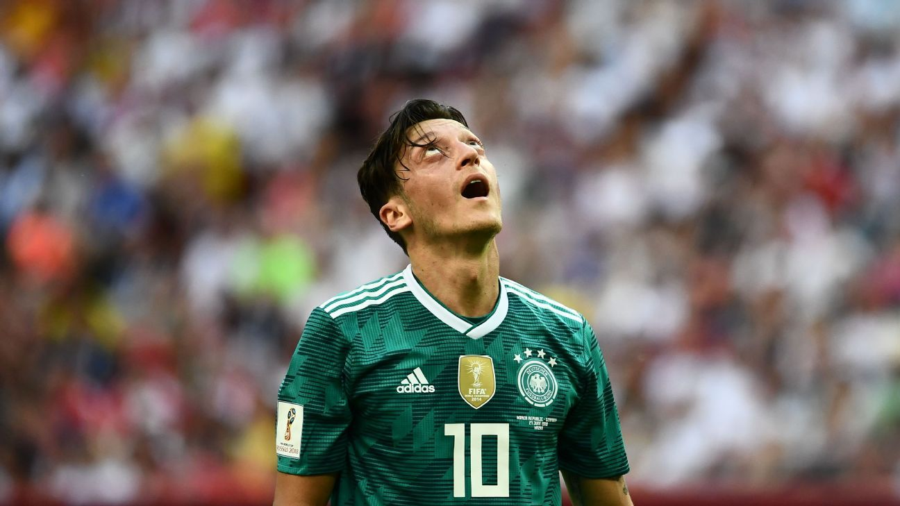 Mesut Ozil was part of the Germany World Cup squad that crashed out in the group stage.