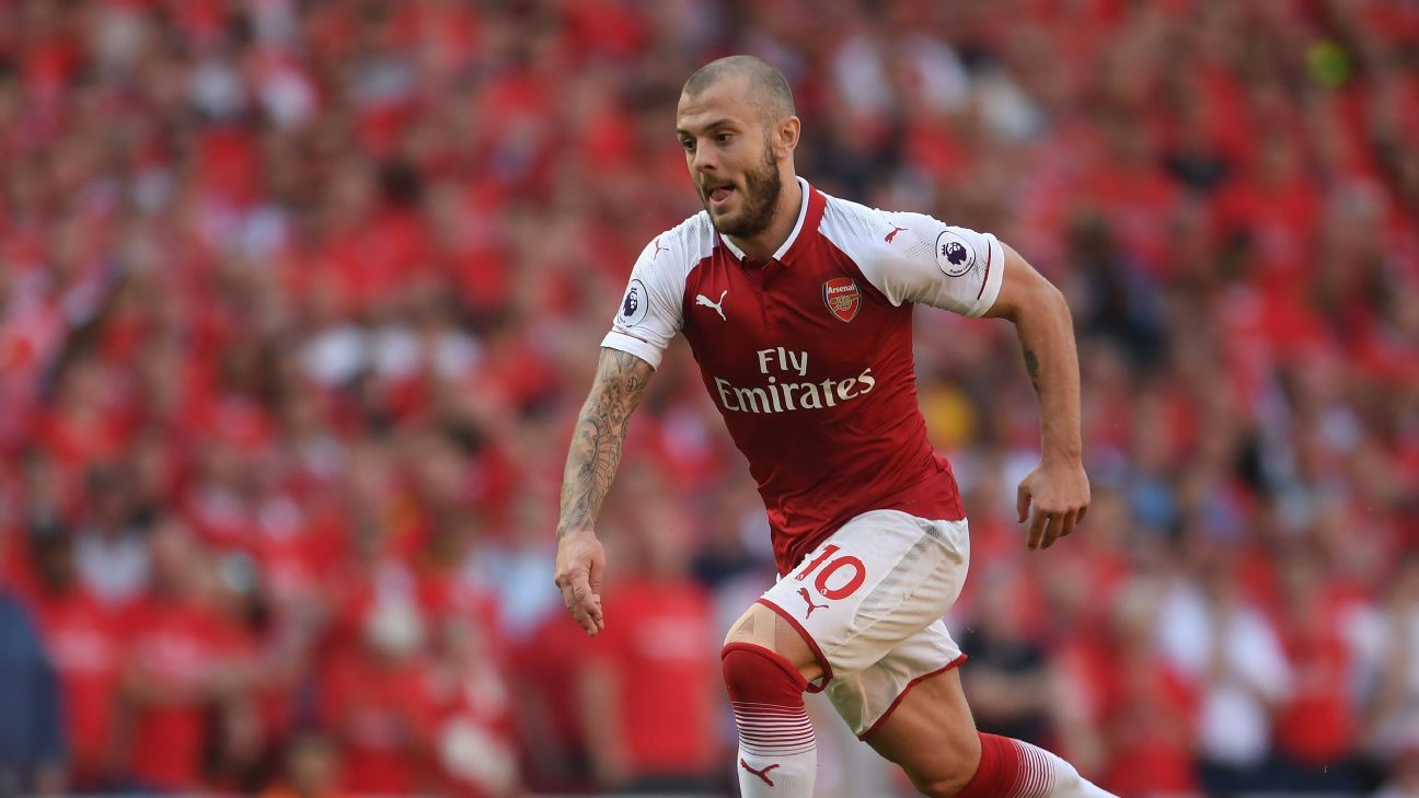 Jack Wilshere during his final home game at the Emirates Stadium.
