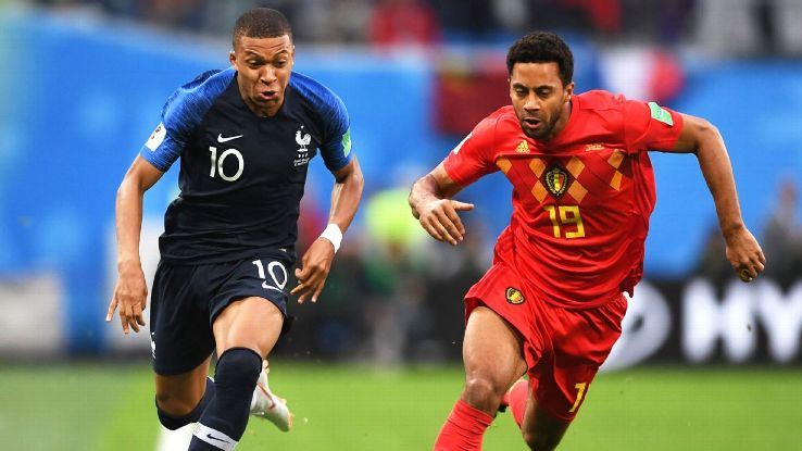 Kylian Mbappe, left, led France into the World Cup final.