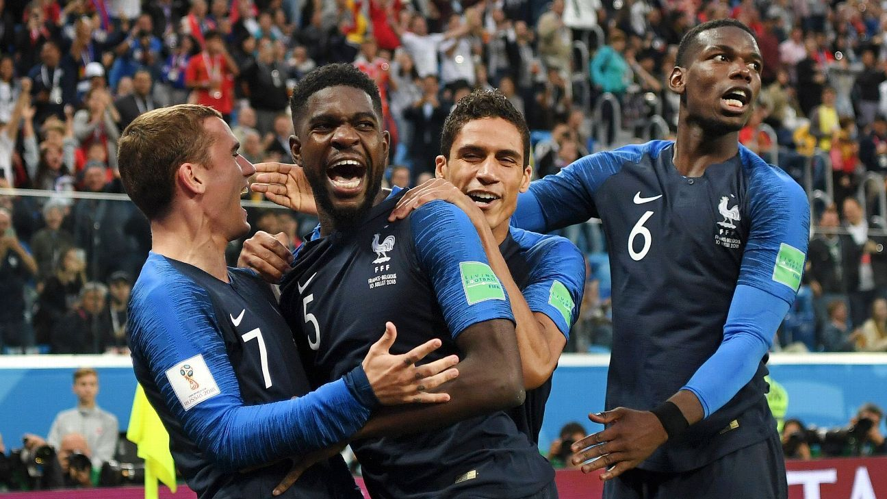 Samuel Umtiti scored the decisive goal for France as they beat Belgium to reach the World Cup final.