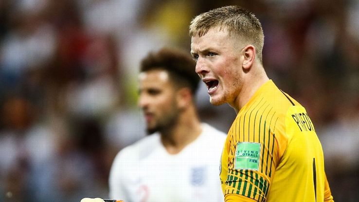 Jordan Pickford was strong again in goal despite England's 2-1 defeat.
