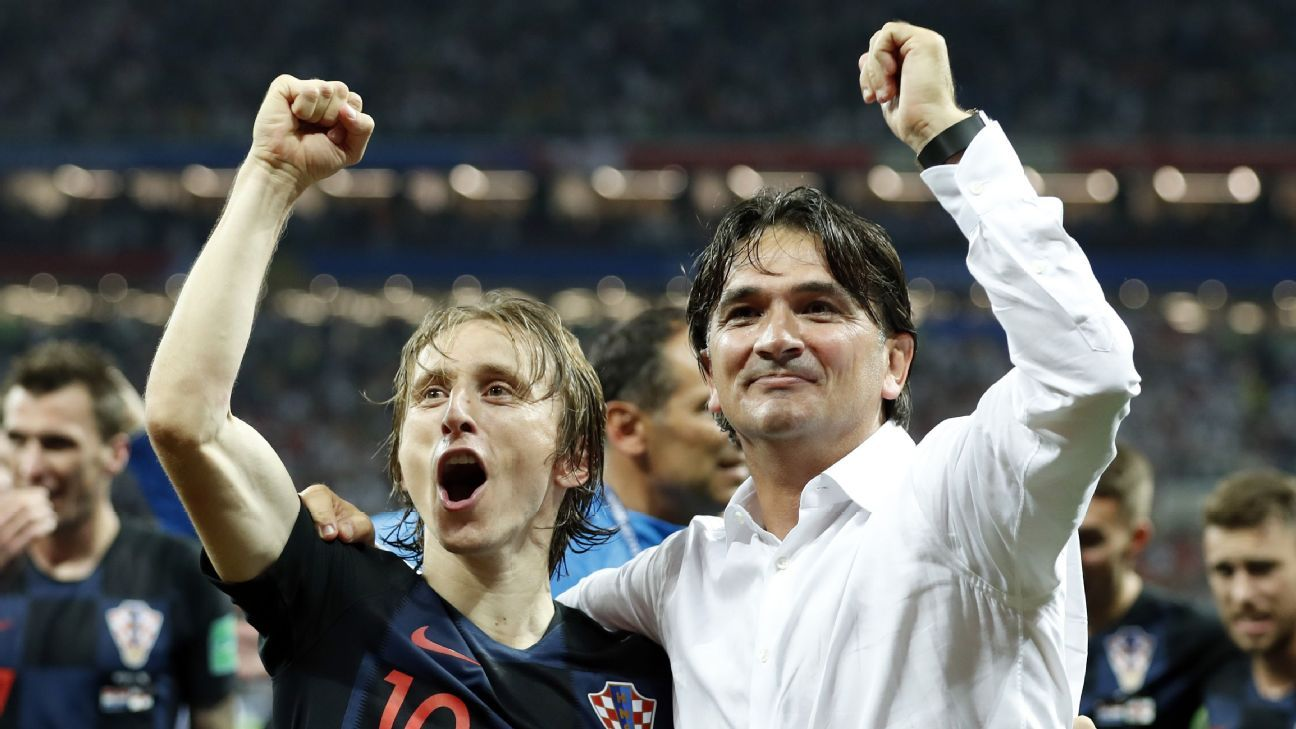 Luka Modric, left, and Zlatko Dalic, right, were pivotal in Croatia's comeback win vs. England.