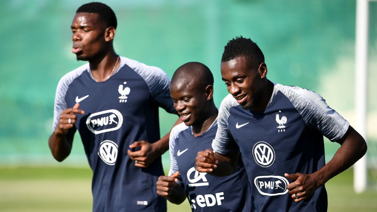 France's senior players, like Pogba, Kante and Matuidi, are determined not to repeat the defeat in the Euro 2016 final when they face Croatia in the World Cup final on Sunday.