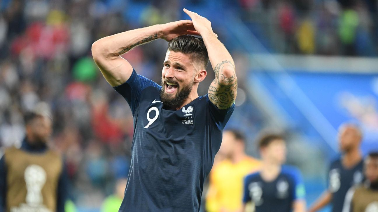 Giroud hasn't scored at this World Cup yet but his presence has helped the likes of Pogba, Griezmann and Mbappe to find space and shine.