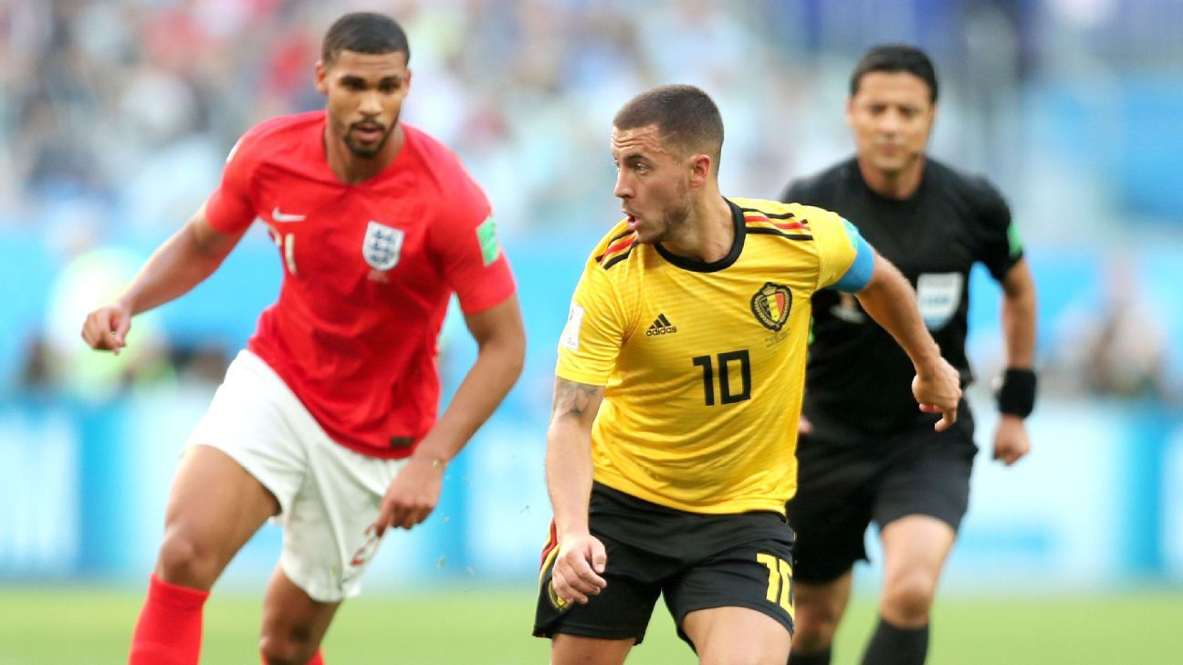 Eden Hazard was the star for Belgium in the Red Devils' 2-0 win over England.