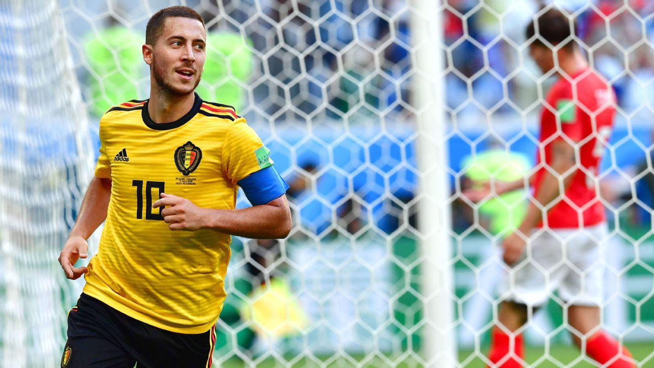 Eden Hazard's goal sealed Belgium's victory over England in the third-place game.