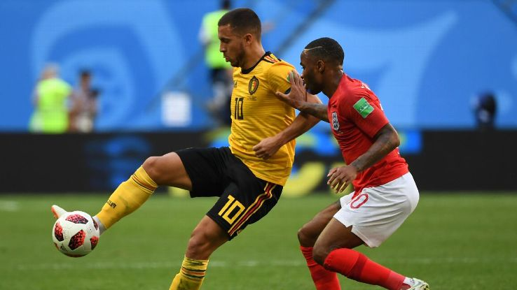 Eden Hazard outshined Raheem Sterling in Belgium's third place victory.