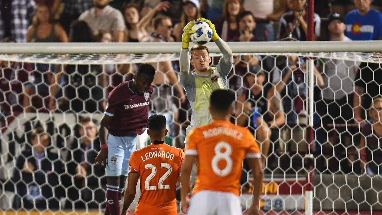 Keepers enjoy easy night in Houston Dynamo-Colorado Rapids scoreless draw