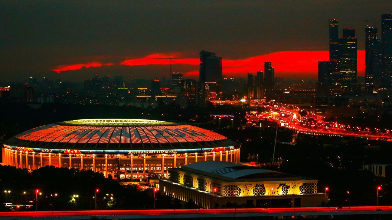 Moscow's Luzhniki stadium is the venue of the 21st World Cup final