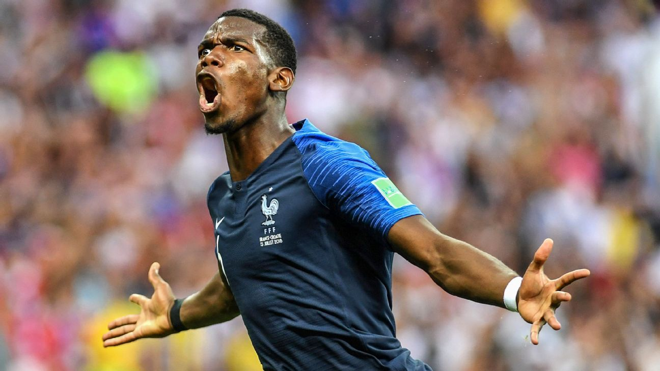 Paul Pogba scored against Croatia in the World Cup final.