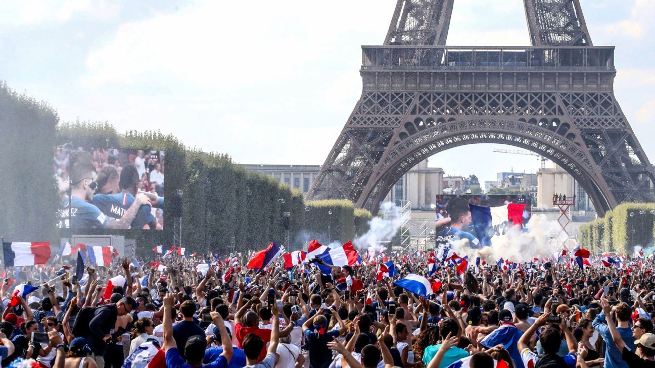 Thousands of France fans gathered to toast their heroes' success.